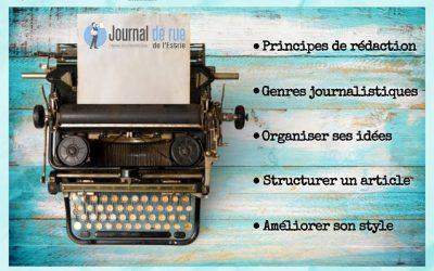 Ateliers d'écriture du Journal de rue