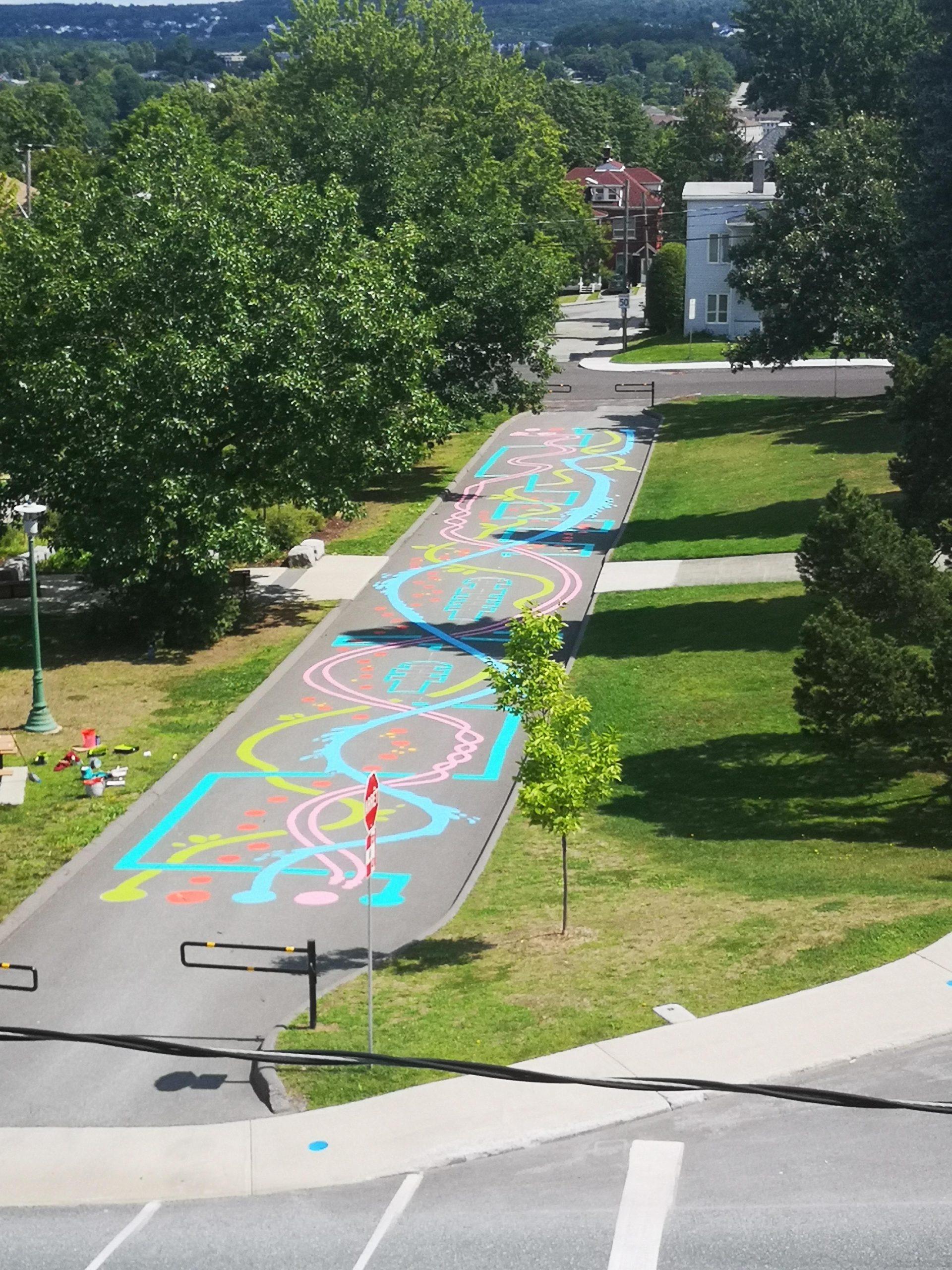 Activité dans le parc-école-parcours